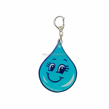customized promotional cartoon printing reflex keychain