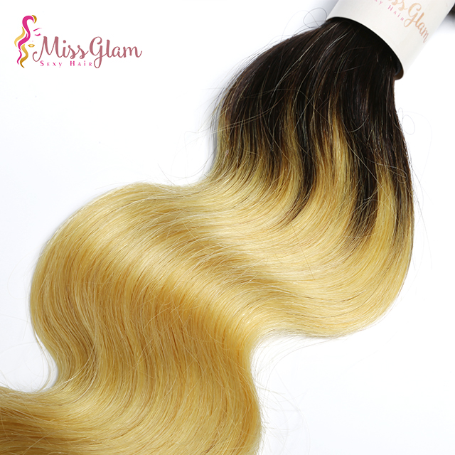 Ombre black/yellow human <strong>hair</strong>,peruvian body wave human <strong>hair</strong> bundles