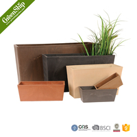 Polystone balcony garden decor planter
