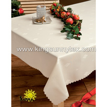 fancy jacquard table cloth for hotel