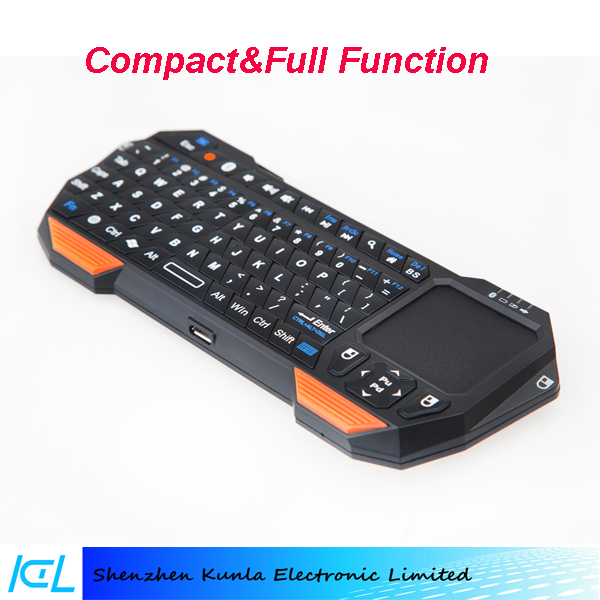 2017 gaming Ultra Thin bluetooth mini Touchpad Keyboard for Windows, Android, iOS, OS X Devices