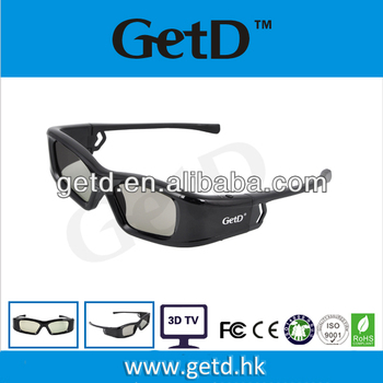 Micro USB rechargeable,LCD lens,compatible with all IR 3D TVs in market, ABS frame, active 3D TVs usage glasses---GH410IR