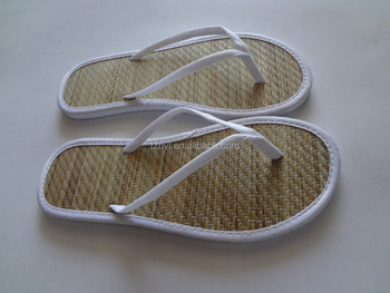 Wholesale Fashion Women Bamboo Straw Flip Flops