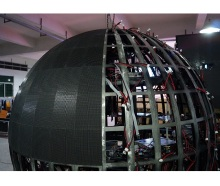 HD indoor P4mm dia 2m/3m/4m/5m full color video sphere led display screen/advertising ball led/Round shape LED Display