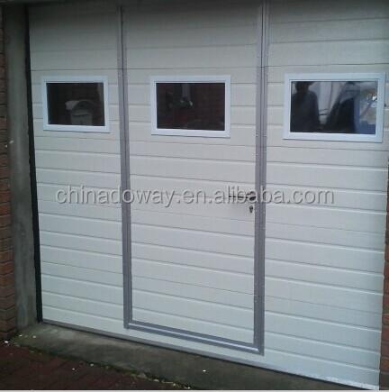 Automatic open style garage door with pedestrian door for Garage man door