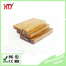 Promotional gift 4000mAh Portable Mobile Phone Charger wood Power Bank li-polymer battery