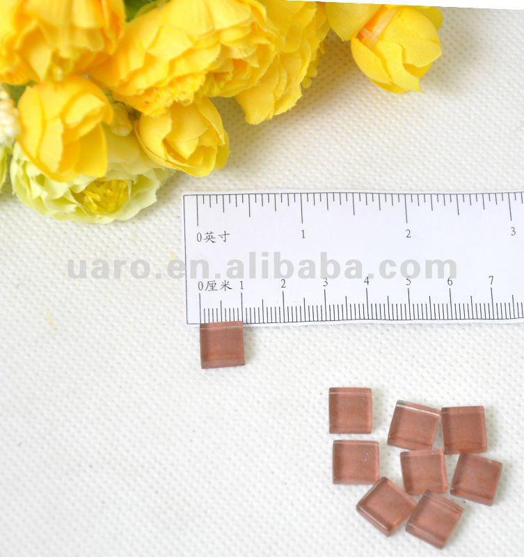 Chestnut candy crystal glass mosaic art and craft materials X038