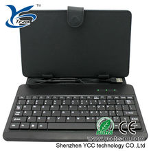 wholesale price smart table cover 7 inch keyboard case for android tablet 7/8/10.1inch with stylus and mini USB