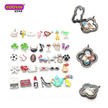 Hot selling 8mm small charms floating charms living glass floating memory locket charms