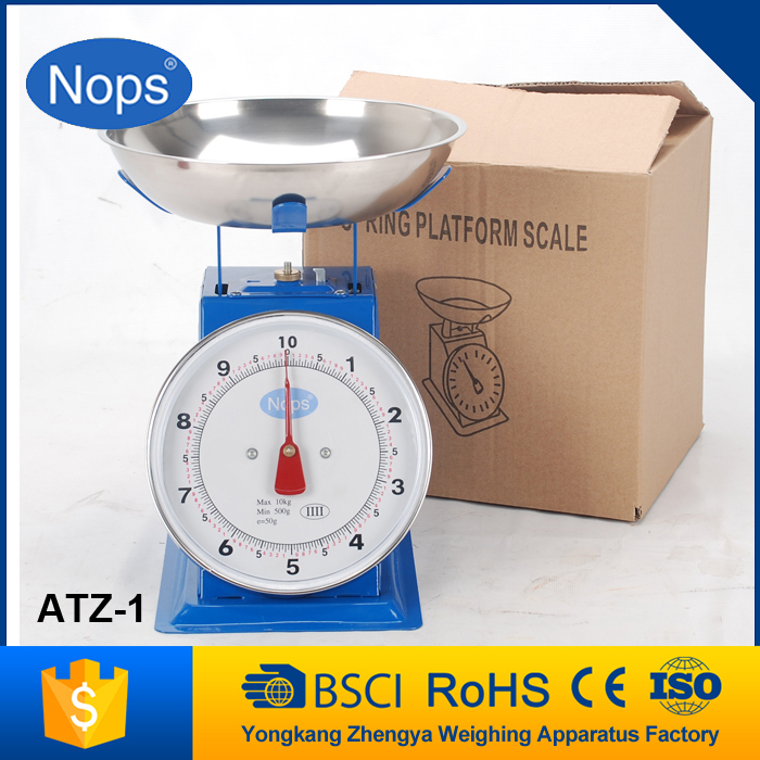 Low Price Mechanical Spring Platform Weigh Scale 15Kg