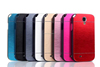 PC Brushed Back Cover Metal Case Mobile Phone Bumper Case For SAMSUNG GALAXY S4