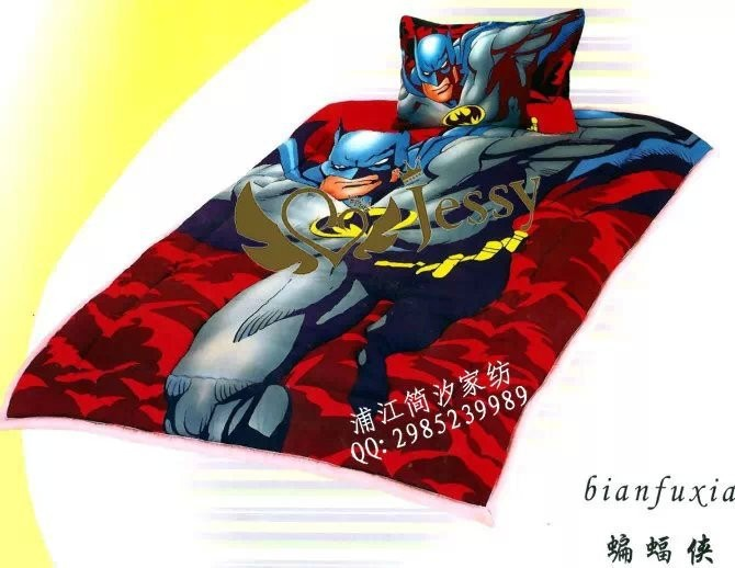 new design batman printing colorful high quality 3pcs bed sheet