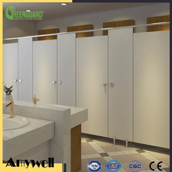 Amywell Factory formica phenolic compact laminate toilet cubicle partition
