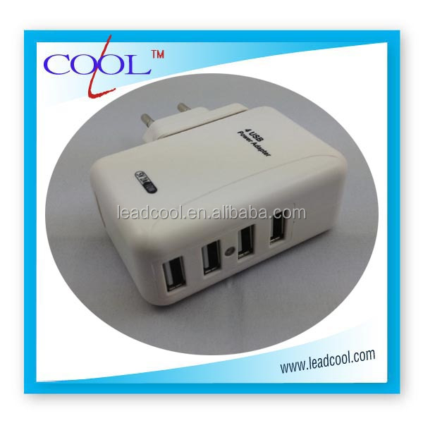 new USB 4-ports us/uk /eu plug changeable wall charger,travel charger for iphone5s5c Samsung