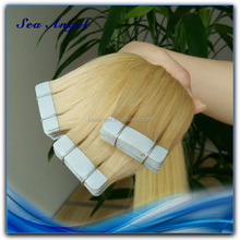 100% Human Hair No Synthetic Can be permed Remy Russian Hair Tape Extension