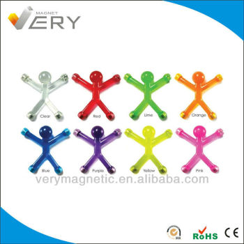 PVC Material Magnetic Office Supplies Mini Bendable Strong Jelly Q-man Magnet