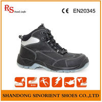 Hot selling plastic toe cap and kevlar mid sole safety shoes Italy ,Oil and gas safety shoe Plastic safety boots RS144
