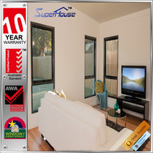 Australian standard hurricane-resistant single glazed interior aluminum hopper windows and doors