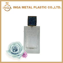 100ml Cobwebbing Spray Pump Perfume Bottle With Metal Cube Cap
