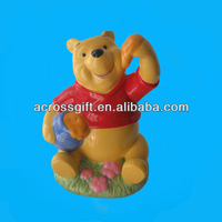 hand made resin money bank bear