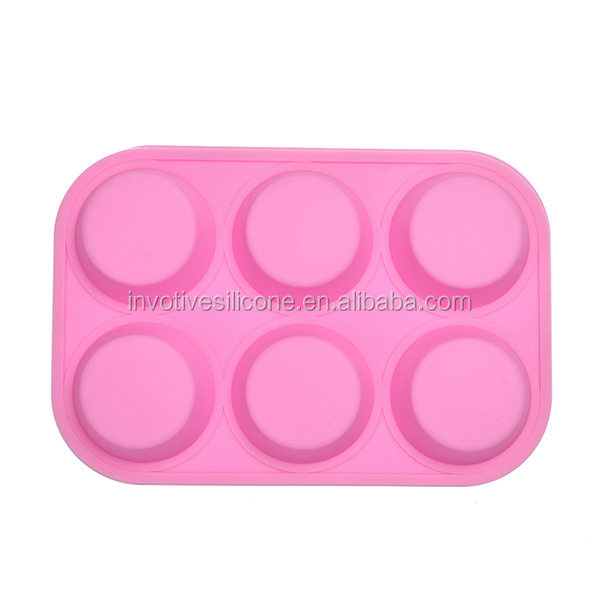 Custom Printed Logo 6 Cups Silicone Rubber Soap Moulds
