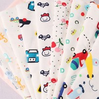 new design healthy custom cartoon print interlock baby quilt fabric cotton