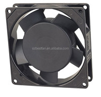 aluminum frame and plastic blade 220V AC 92x92x25mm ac axial micro ventilator