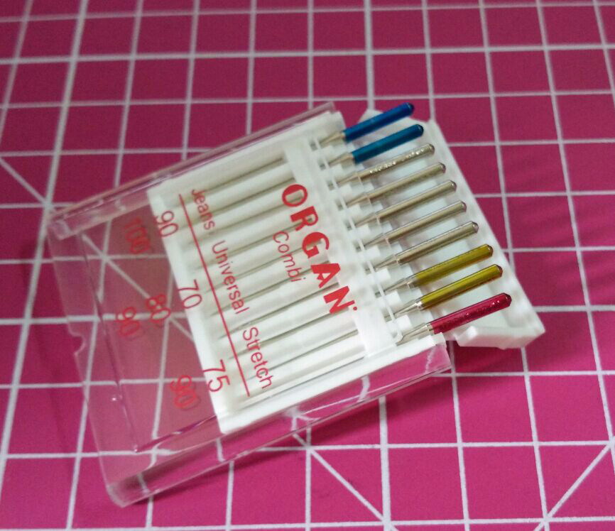10 PCS ORGAN DOMESTIC SEWING MACHINE NEEDLES 130/705H JEANS UNIVERSAL & STRETCH COMBI PACK