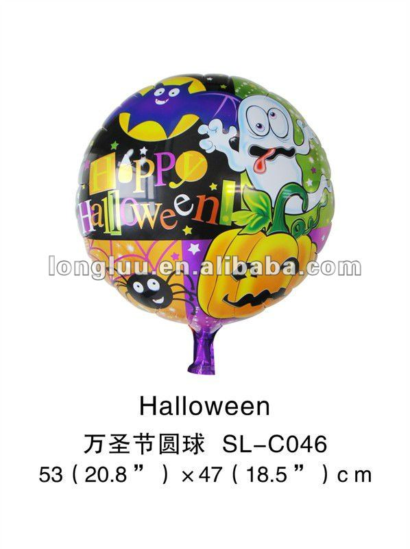2012 high promotion round halloween helium balloon