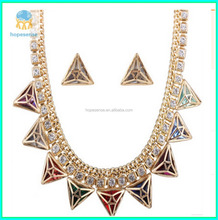 2017 diamond jewelry sets necklace earrings high-grade four-piece big gold plated jewelry sets