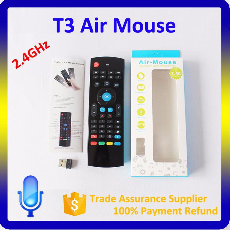 2.4GHz Fly Air Mouse Wireless Qwerty Keyboard Remote for Smart TV BOX