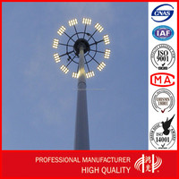 Hot-dip Galvanized 15M High Mast Flood Lighting Pole with Reasonable Price China Manufacturer