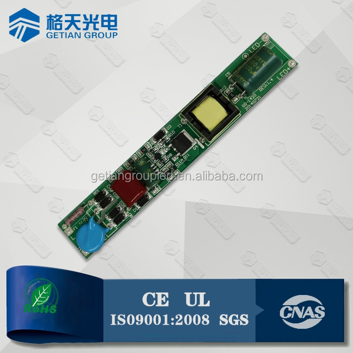 Isolate/non-isolate led driver T8 20w tube driver 3 years warranty