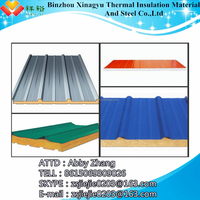 Metal exterior wall decoration/pu sandwich panel