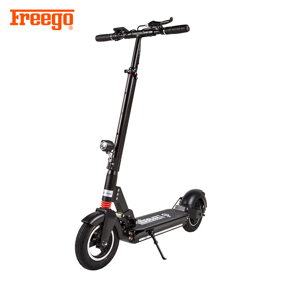 Freego factory Hottest 48V 7.8Ah Lithium battery 10 inch 2 wheels <strong>electric</strong> folding scooter