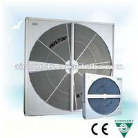 Self-cleaning double sealing system air garage cooling system