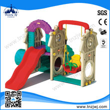 CE approved outdoor playhouse outdoor plastic swing and slide set for kids