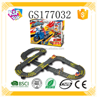 B/O Railway Motorcycle Plastic Track Racing Toy For Kids
