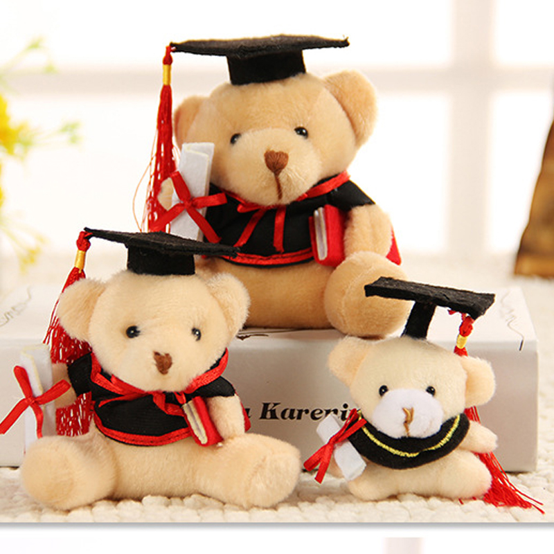 Plush Toy Mini Doctor Bear Doll Graduate Pendant Cartoon Bouquet Birthday Gift Wedding Promotion Accessories Keychains