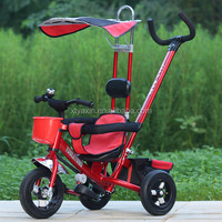 Plastic and Metal Pedal Baby Tricycle Kids Tricycle With Cnopy