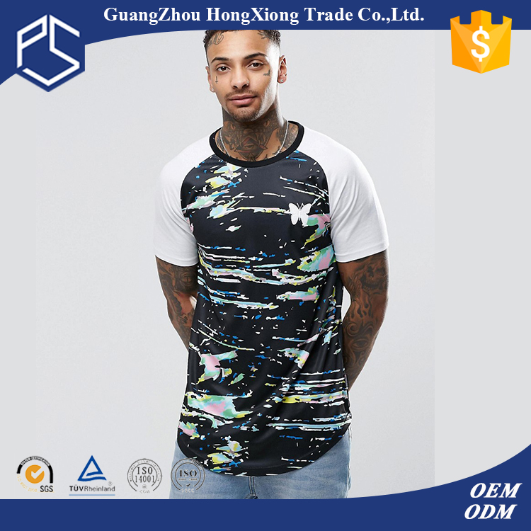 China Factory Hongxiong Latest Style 180 Grams Short Sleeve Round Neck Polyester Sublimation Men True Rock T-Shirt
