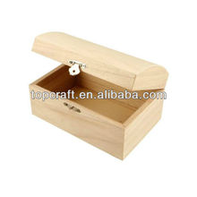 Wooden Treasure Chest Storage Box 16cm Decorate/Paint Wood Craft Design Create