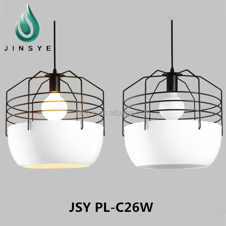 Indoor decor metal cage pendant lamp shade