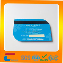 Leaf shape plastic pvc card with magnetic strip Shenzhen manufacturer Chuangxinjia