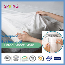 factory directory microfiber waterproof mattress topper/mattress cover China supplier hospital bed sheets