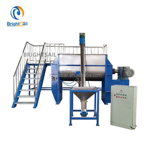 Chemical fertilizer horizontal ribbon mixer