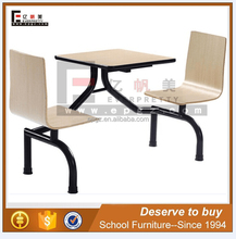 Furniture High Quality Wood Dinning Table, Modern Canteen Table with Two Chairs