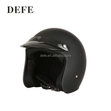 Custom cool half face black motorcycle helmet with dot certificate