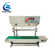 FR-770 Vertical Continuous Band Sealer Plastic Pouch Sealing Machine