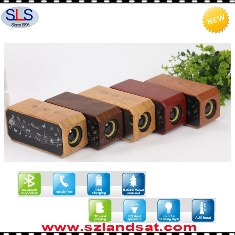 2016 New wood bluetooth speaker with handsfree and touch function for all mobile phones BSW16